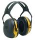 Peltor X2A elektromosan szigetelt sárga fültok hagyományos fejpánttal (SNR 31 dB)