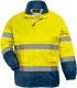 Fluo esőruha, Pes/PU Breathane®  Oxford, szellőző, sárga/kék