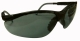 0009 Védőszemüveg szürke-fekete nylon keret, állítható kerethossz, szilikon orrvédő