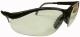 0010 Védőszemüveg szürke-fekete nylon keret, állítható szárhossz, szilikon orrvédő