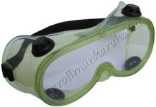 1006 saválló védőszemüveg, lágy PVC kerettel, állítható gumipánt rögzítéssel