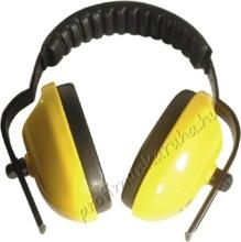1114 Fültok sárga, bőrerezetű PVC párna, állítható fejbőség, 178 gramm