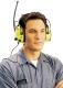 1128 RÁDIÓ HV jó láthatósági fültok, AM/FM rádió és AUX bemenet, 3,5 mm-es kábel