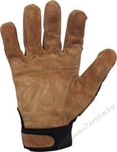Puha szín marhabőr kesztyű, Spandex kézhát és ökölcsont védő