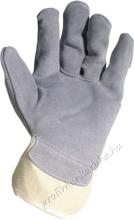 2207 Védőkesztyű: szürke színű marhahasíték, vászon kézhát és mandzsetta