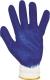 2229 Kék latex-szel mártott cérnakesztyű, csúszásmentes tenyér férfi méret 10-es