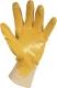 2270 Pamutra ökölcsontig mártott sárga nitril, gumírozott mandzsetta