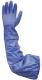 2277 70 cm hosszú PVC sav kesztyű, mikororganizmusok ellen 10-es méretben