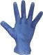 2291 Kék vynil kesztyű, púderezett és púdermentes változatban