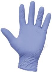 2298 Kék nitril kesztyű, 0,25 mm vastag ujjbegyen enyhén érdesített