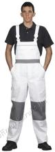 4597 Kantáros nadrág festők részére 265gr, 50-50%pamut-PE kevertszálas, fehér