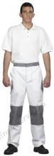 4599 Derekas nadrág 265gr, 50-50% pamut-PE kevertszálas, kopásálló, fehér