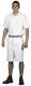 4600 Fehér festő rövid nadrág, két francia zseb,265gr, 50-50% pamut-PE kevertszálas, kopásálló, fehér