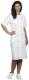 4619 Női rövid ujjú tunika, kevertszálas alapanyagból fehér