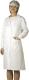 4623 Normál fehér női köpeny, ISO és HACCP elvárásoknak megfelelő fazon, patentos kivitelben