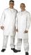 4631 férfi köpeny fehér, ISO és HACCP elvárásoknak megfelelő fazon, patentos kivitelben
