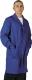 4633 Színes férfi köpeny, gombos kivitel, sötét kék , 50-50% pamut-PE kevertszálas alapanyagból