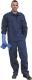 4644 Saválló kantáros öltöny, egyenes fazonú, kék színû, 245 gramm/ m² területsûrûségû alapanyagból