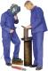 4645 Lángálló munkaruha, kantáros öltöny, rejtett patentos,  pyrovatex bevonattal lángmentesített, 100% pamut összetételű, 360 g/m2 területsűrűségű alapanyagból