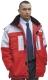 4675 Piros és kék színű vízálló kabát, 6 külső 2 belső zseb,  rip-stop szakadásbiztos külsõ alapanyag