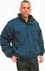 4677 Színes bélelt vatta dzseki, rejtett gombolás, takaró pánttal, sötét kék ,  kopásálló kevert szálas és 100% pamut alapanyagokból