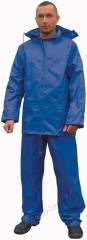Esőöltöny, sav és lúgálló, poliamidra mártott lágy PVC, szellőző hát, királykék