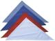 4907 A Kék kockás kendő, kevertszálas, 50% pamut-50%PE 72x72x104cm
