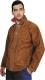7706 Hegesztőruha, kabát, 1,4 mm vastag egybeszabott marha hasítékbõr