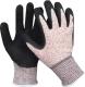 HPP vágás biztos kesztyű latex tenyér mártással, antibakteriális, szellőző kézhát