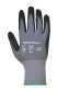 Dermiflex védőkesztyű, fekete, Nylon, Spandex, Nitril hab