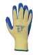 Kevlar® tenyérmártott latex kesztyű, sárga / kék, Kevlar®, Latex