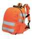 Jól láthatósági hátizsák, gyorskioldóval, narancs