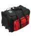 Trolley koffer, fekete/piros