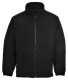 Aran polár pulóver, fekete, 100% poliészter bolyhosodásmentes (280g)