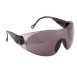 Kontúros biztonsági szemüveg, fekete, polikarbonát UV370 & műanyag keret