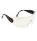 Kontúros biztonsági szemüveg, víztiszta, polikarbonát UV370 & műanyag keret