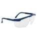 Klasszikus védőszemüveg, kék, polikarbonát UV400 & műanyag keret