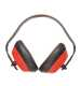 Hagyományos fülvédő, piros, Hangelnyelő csésze & PVC párnák