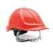 Endurance Plus védősisak, piros, ABS és polikarbonát