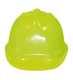 Jól láthatósági védősisak, sárga, polipropilén