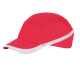 Lélegző ütésbiztos baseball sapka, piros, Kevertszálas anyag, ABS héj