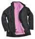 Elgin 3az1-ben női dzseki, fekete, 100% poliészter 160g PVC bevonattal