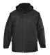 Angus kabát, fekete, 100% poliészter PVC bevont, 160g ujjak: nylon 60g, szövet 100g