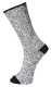 Fleck zokni, szürke, 60% pamut, 35% akril, 5% elasztán
