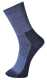 Thermal zokni, kék, 55% pamut, 15% nylon, 15% gyapjú, 15% akril
