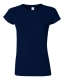G 64000L Ladies' Fitted Ring Spun T navy M, 140g,  női póló